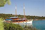 Kreuzfahrten mit der Sagena ab Hafen Zadar  -  Kroatien  Route Z7: 1-wöchige Kapitänstour
