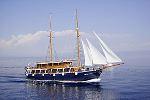 Kreuzfahrten mit der Kruna Mora  -  Kroatien  Der Motorsegler: