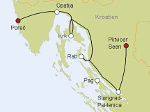 8-Tage Autorundreise Istrien - Kvarner - Plitvice  -  Kroatien  1. Tag: Porec